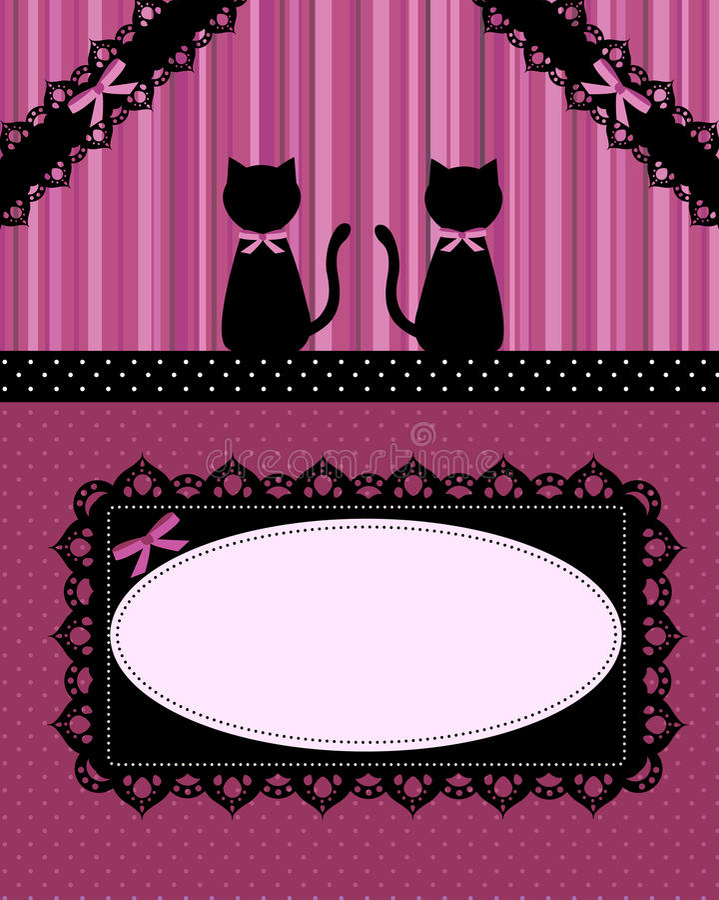 Cats Card Royalty Free Stock Photos