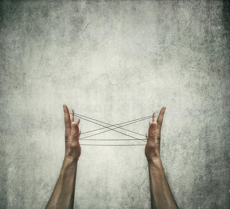 Cats cradle royalty free stock photo