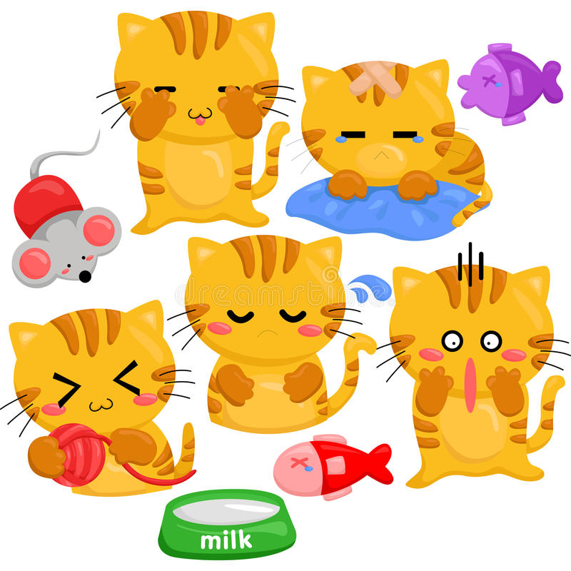 Cats. A cute little cats vector royalty free illustration