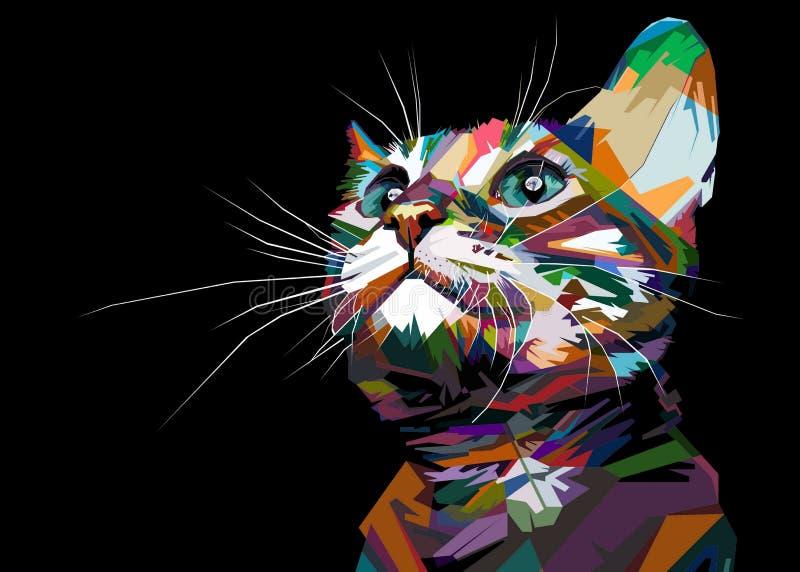 Cats cute. Pop art vector illustration