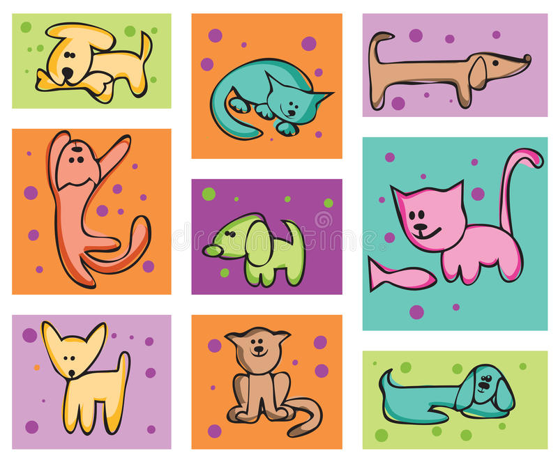 Download Cats And Dogs. Royalty Free Stock Photography - Image: 13784807