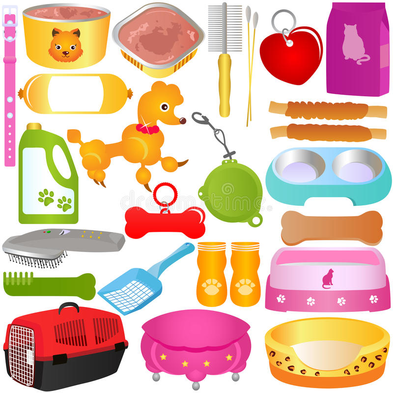 Cats / Dogs, Food And Accessories Stock Photography