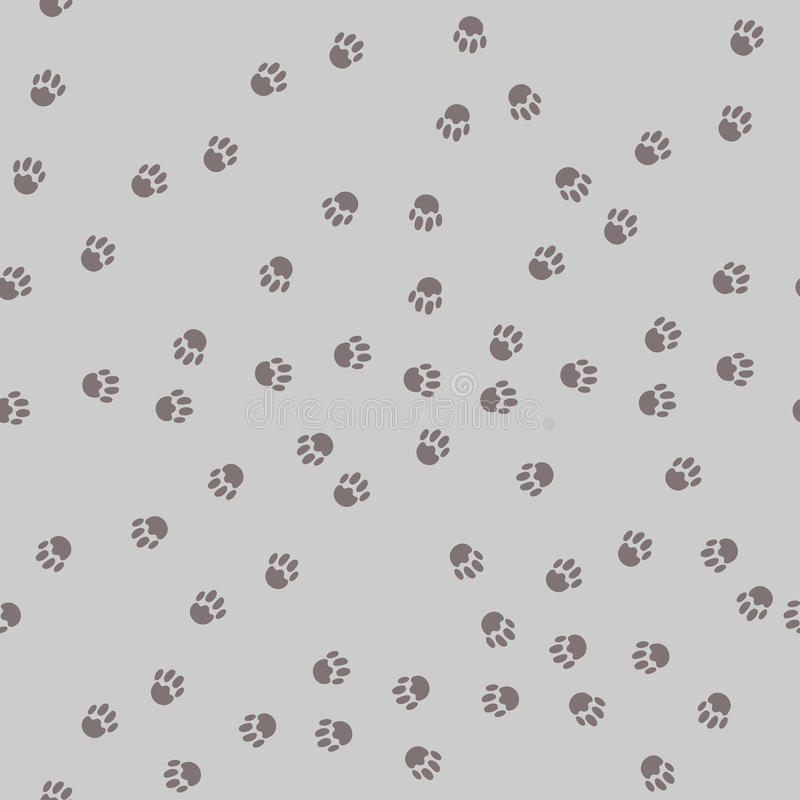Cats or dogs paw prints seamless pattern royalty free illustration