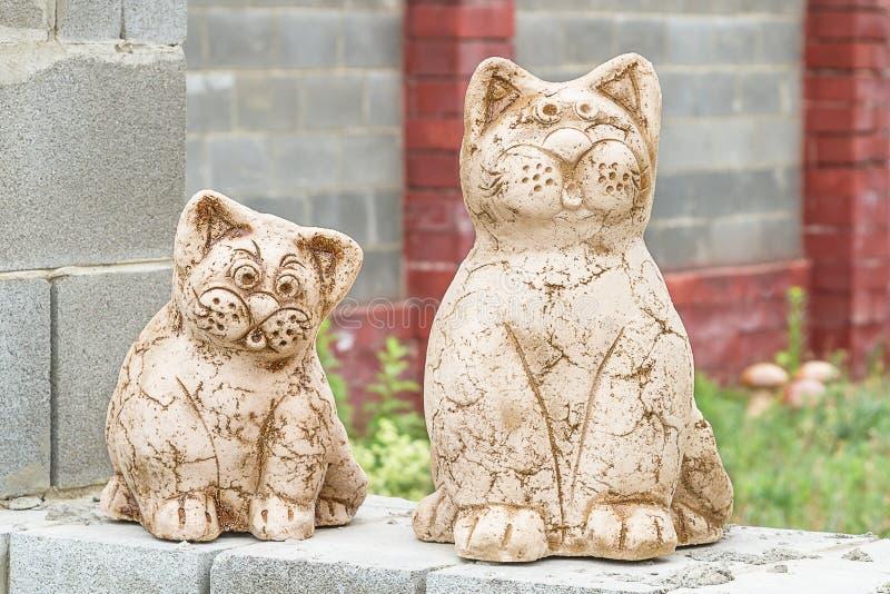 Download Cats - garden sculpture stock photo. Image of closeup - 26100282