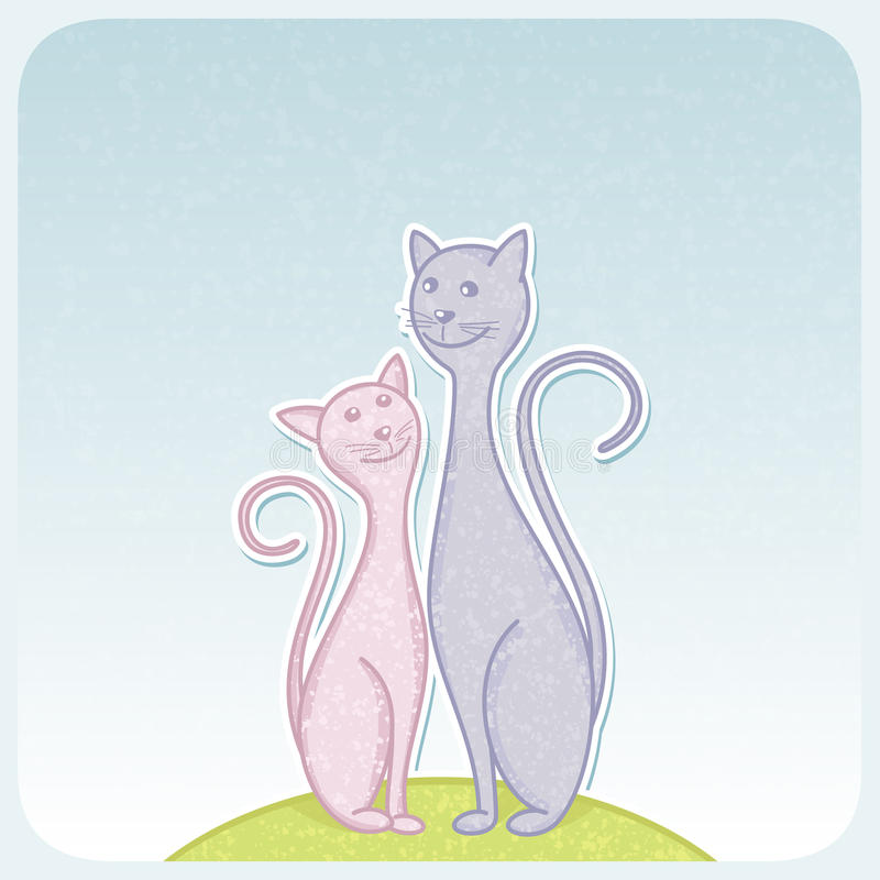 Cats stock illustration