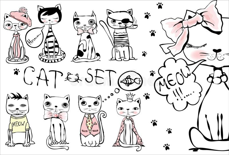 Cats illustration royalty free illustration