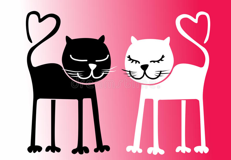 Download Cats in love. stock vector. Image of february, drawing - 22150756