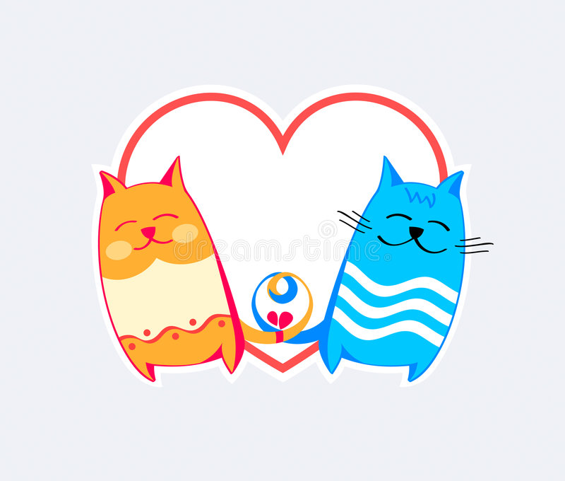 Cats Love Stock Images