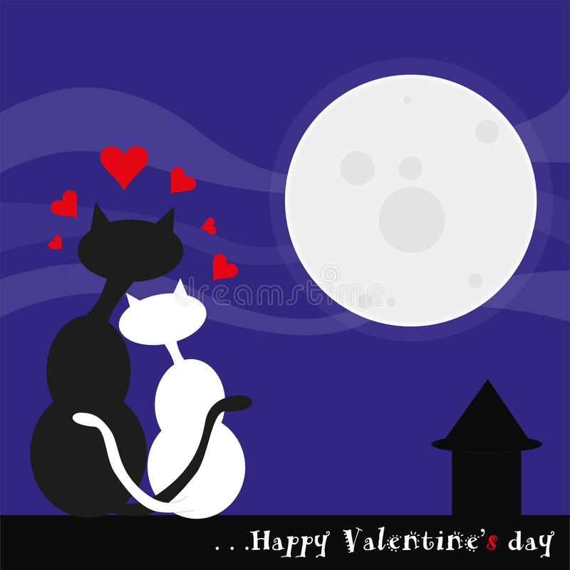 Download Cats in love stock illustration. Image of marriage, valentine - 34258801
