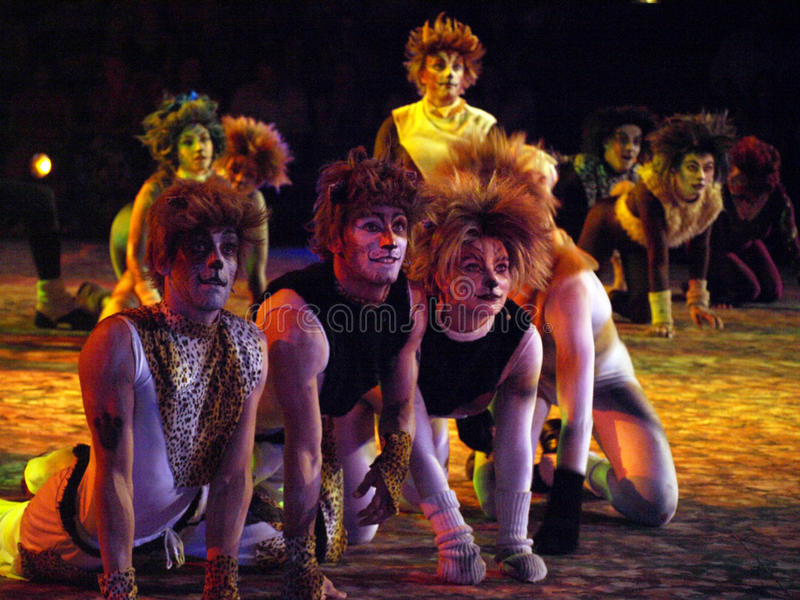 Cats The Musical. Performance of the Cats musical from Andrew Lloyd Webber stock photography