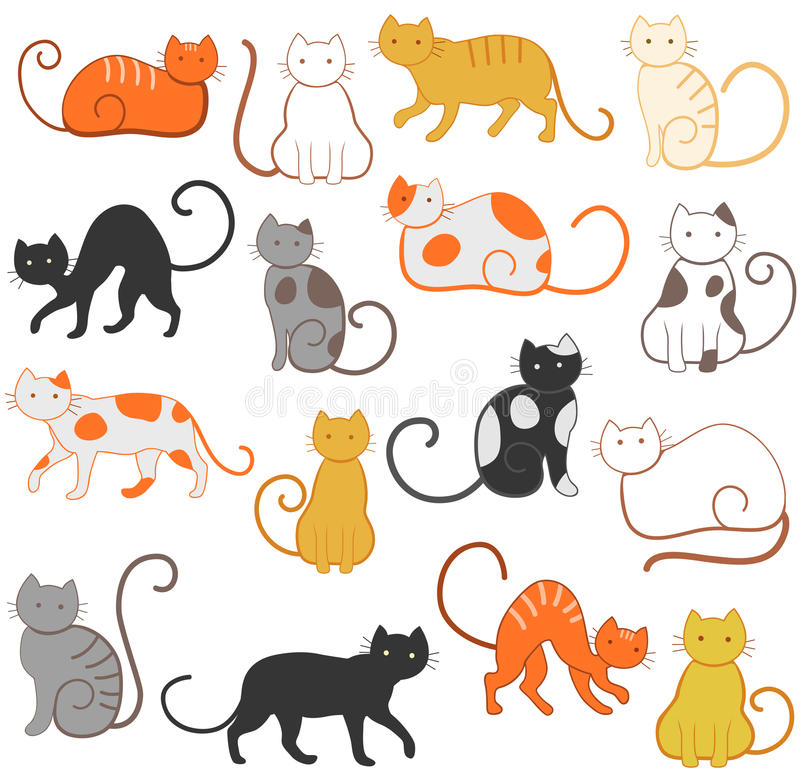 Download Cats pattern stock vector. Image of background, color - 12856713