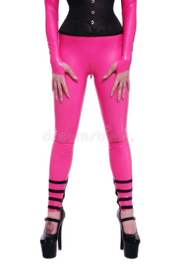 catsuit ροζ στοκ εικόνα