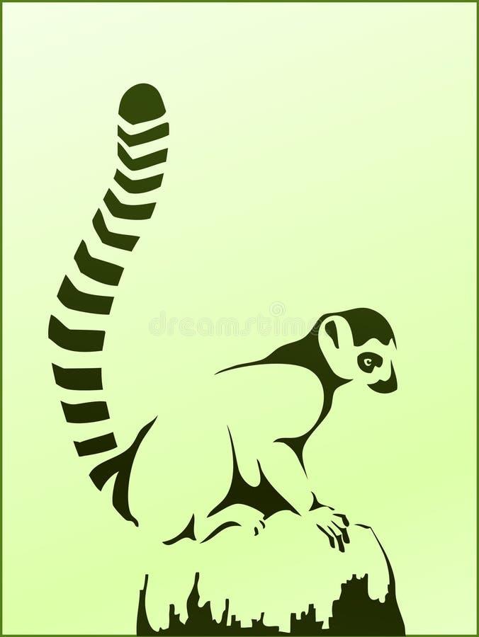 Catta del Lemur royalty illustrazione gratis