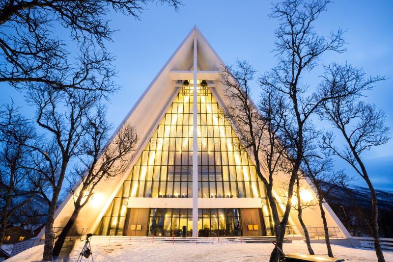 Cattedrale artica Norvegia fotografie stock