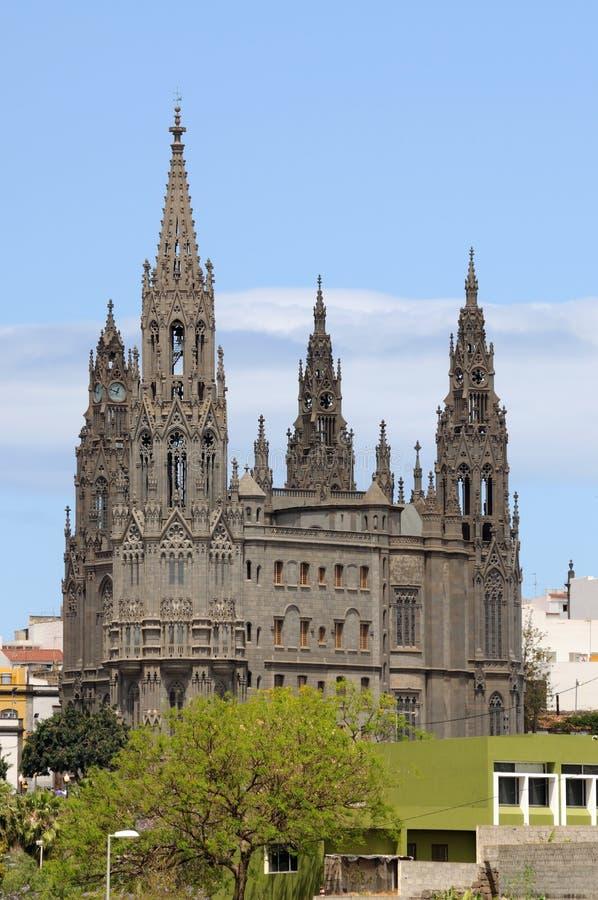 Cattedrale a Arucas, grande canarino fotografia stock