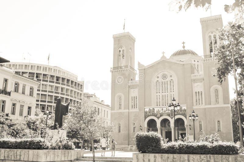 Cattedrale a Atene, Grecia immagini stock libere da diritti