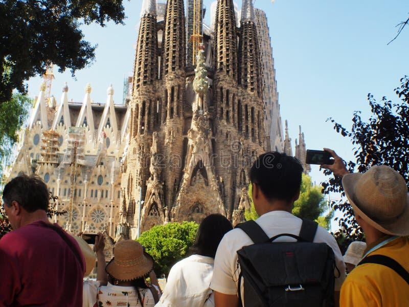 Cattedrale Barcellona, Catalunya di Gaudi fotografia stock