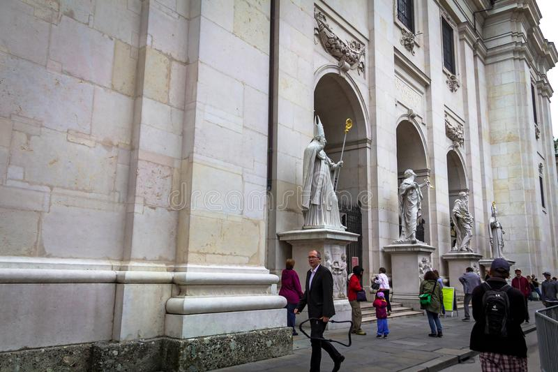 Cattedrale barrocco di Roman Catholic Archdiocese Salisburgo immagini stock