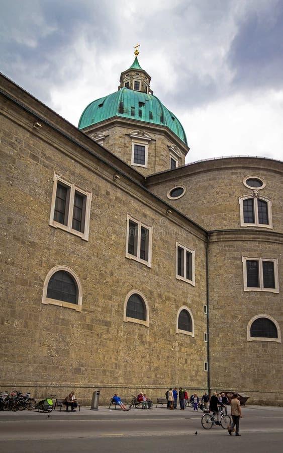 Cattedrale barrocco di Roman Catholic Archdiocese Salisburgo fotografia stock libera da diritti