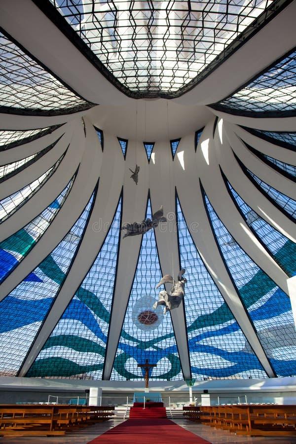 Cattedrale Brasile di Brasilia fotografie stock libere da diritti