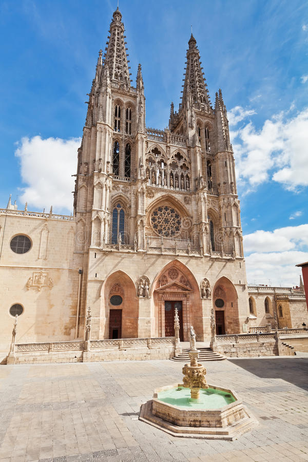 Cattedrale a Burgos, Spagna fotografia stock libera da diritti