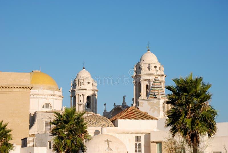Cattedrale a Cadice fotografie stock libere da diritti