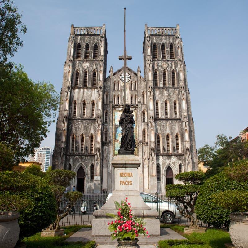 Cattedrale cattolica della st Joseph, Hanoi, Vietnam fotografia stock libera da diritti