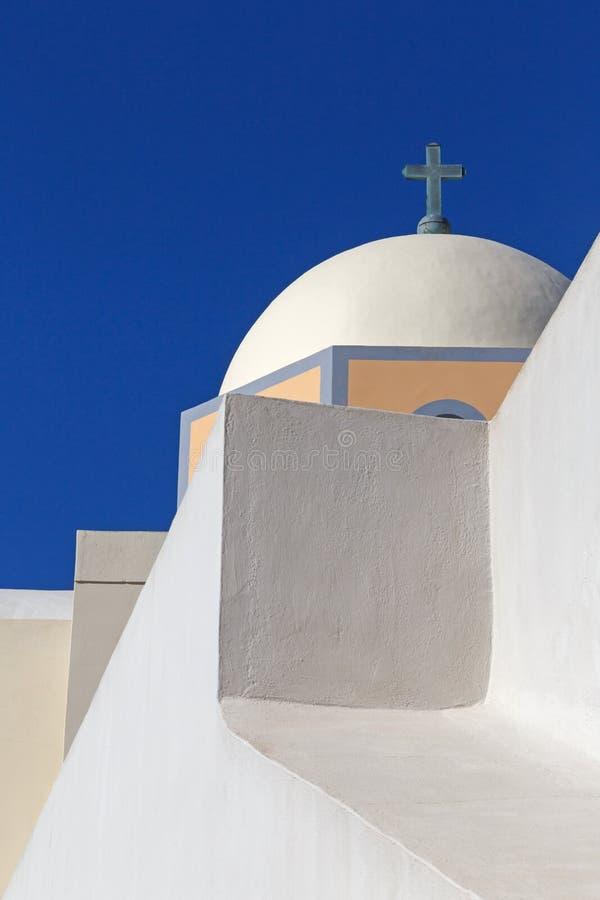 Cattedrale cattolica in Fira fotografia stock libera da diritti