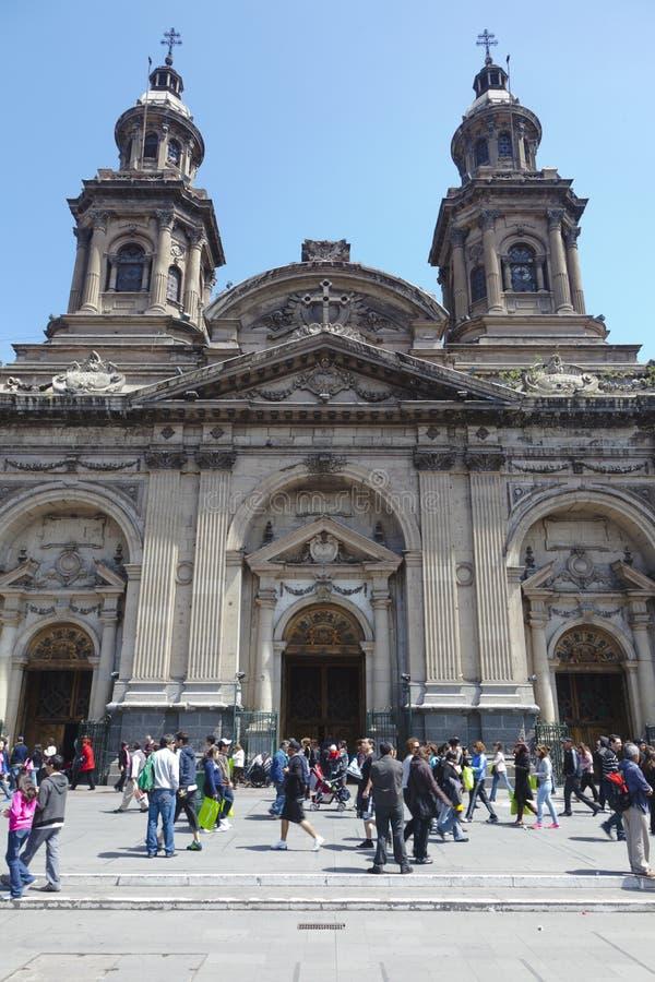 Cattedrale cattolica metropolitana, Santiago de Cile fotografie stock
