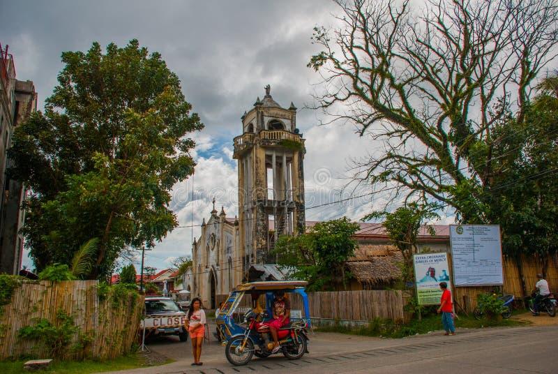 Cattedrale cattolica nelle Filippine Pandan, Panay fotografia stock libera da diritti