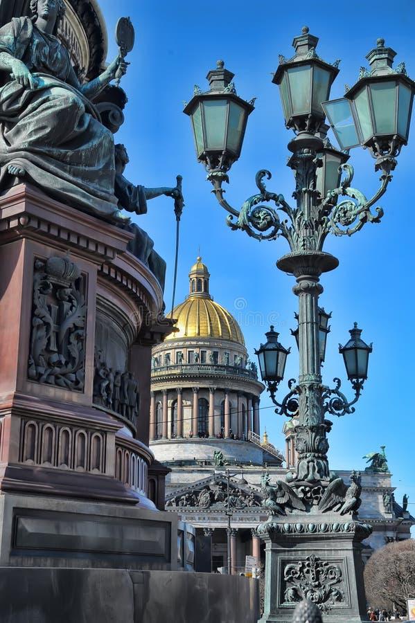 Cattedrale in città St Petersburg immagini stock libere da diritti