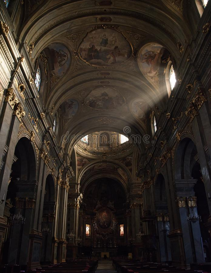 Cattedrale CN-Italia di Fossano immagine stock libera da diritti