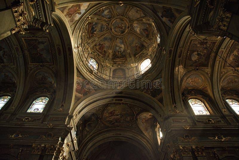 Cattedrale CN-Italia di Fossano fotografia stock libera da diritti