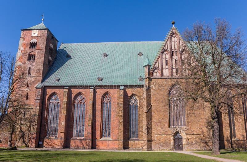 Cattedrale dei DOM nel centro storico di Verden fotografia stock libera da diritti