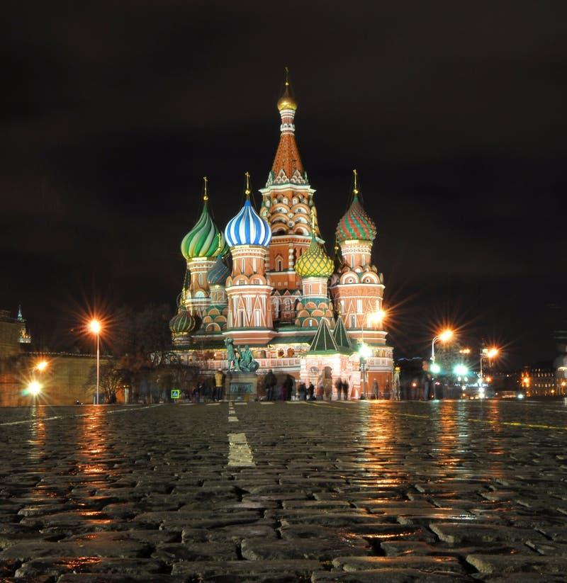 Cattedrale del basilico del san a Mosca immagini stock