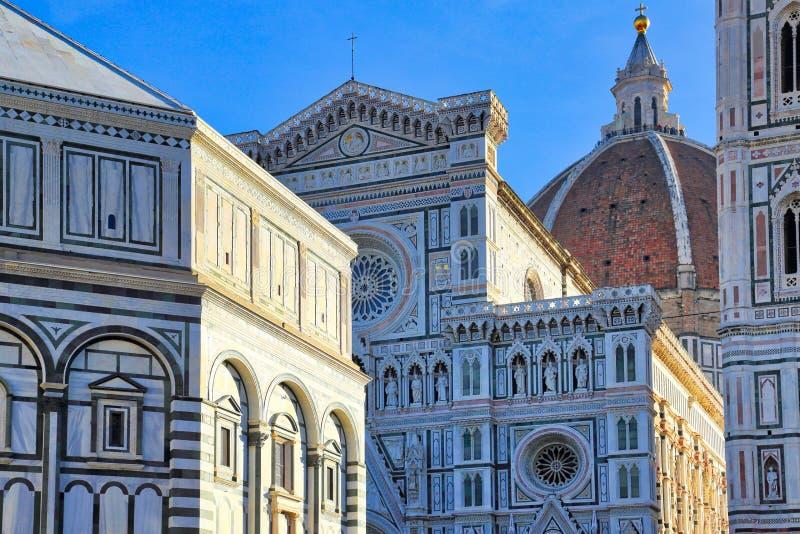 Cattedrale del duomo dell'IL a Firenze fotografie stock libere da diritti