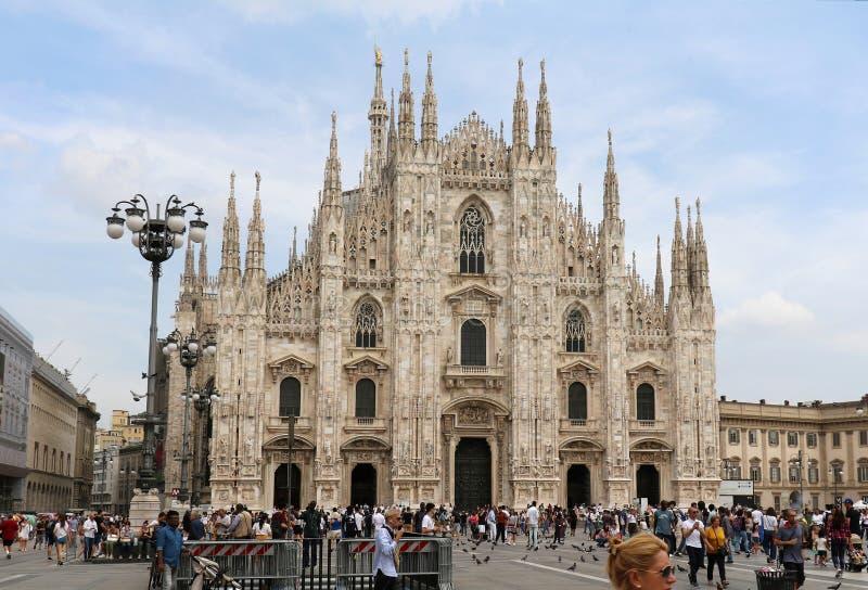 Cattedrale del Duomo a Milano fotografia stock