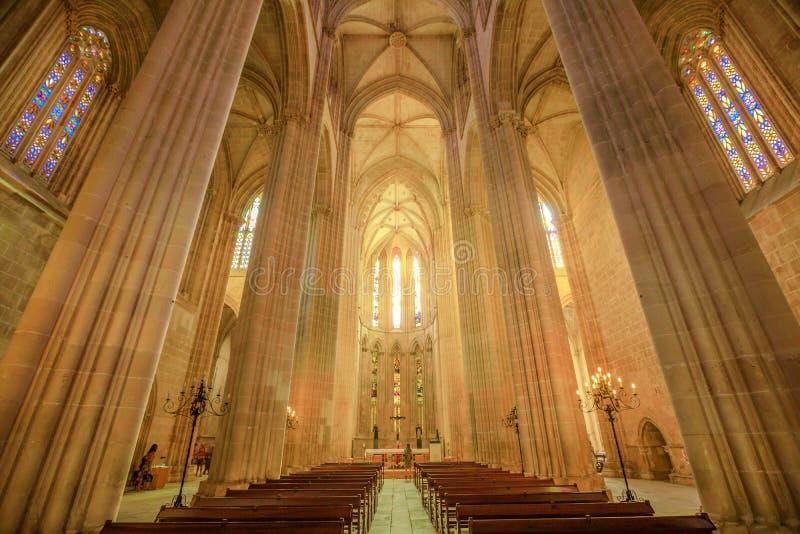 Cattedrale del monastero di Batalha fotografia stock libera da diritti