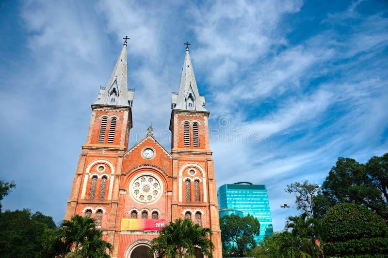 Cattedrale del Notre Dame, Ho Chi Minh City, Vietnam. fotografia stock libera da diritti