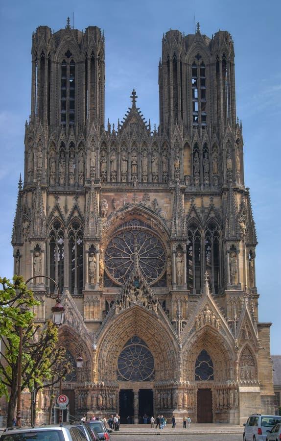 Cattedrale del Notre Dame, Reims fotografia stock libera da diritti