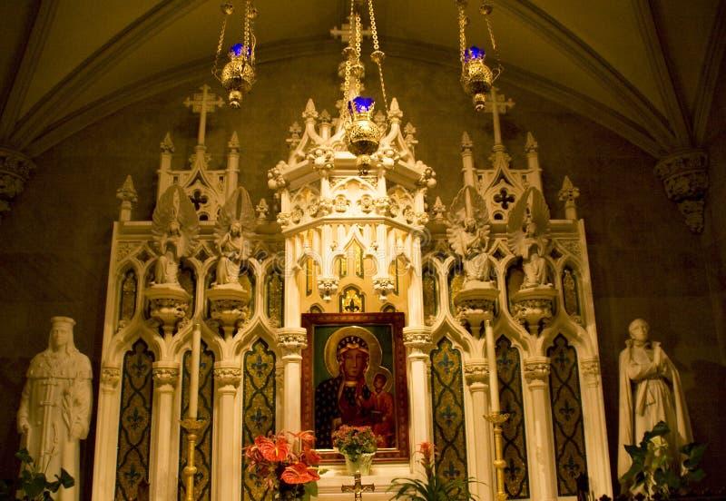 Cattedrale del Patrick santo del santuario dell'icona della Mary fotografie stock libere da diritti