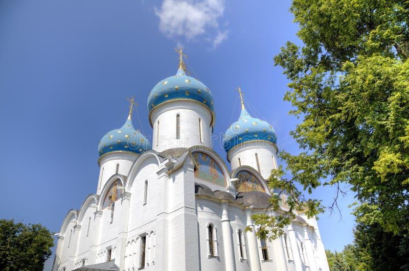 Cattedrale del presupposto di vergine Maria benedetto St Sergius Lavra della trinità santa immagini stock