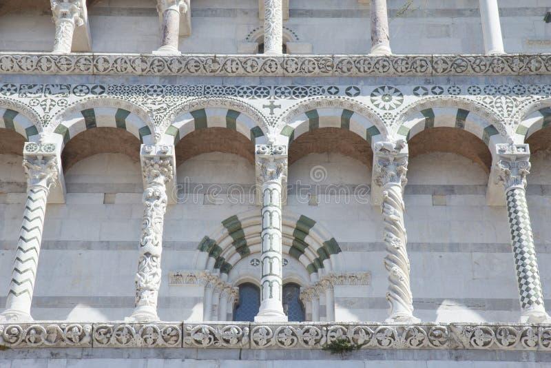 Cattedrale del primo piano di St Martin (Lucca, Italia) fotografia stock