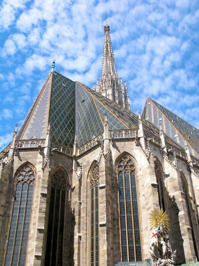 Cattedrale del ` s dell'Austria, Vienna, St Stephen, Stephansdom, verticale fotografia stock libera da diritti