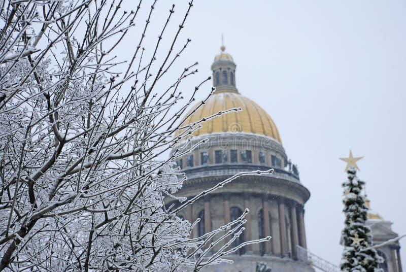 Cattedrale del ` s della st Isaac in San Pietroburgo immagine stock libera da diritti