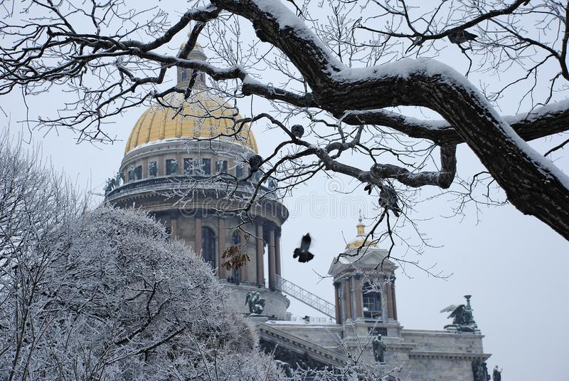 Cattedrale del ` s della st Isaac in San Pietroburgo fotografie stock libere da diritti
