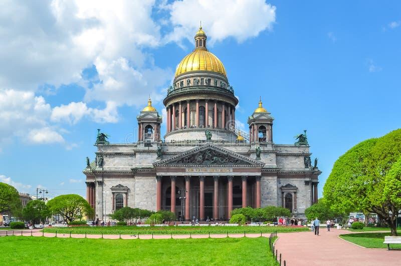 Cattedrale del ` s della st Isaac, San Pietroburgo, Russia fotografia stock