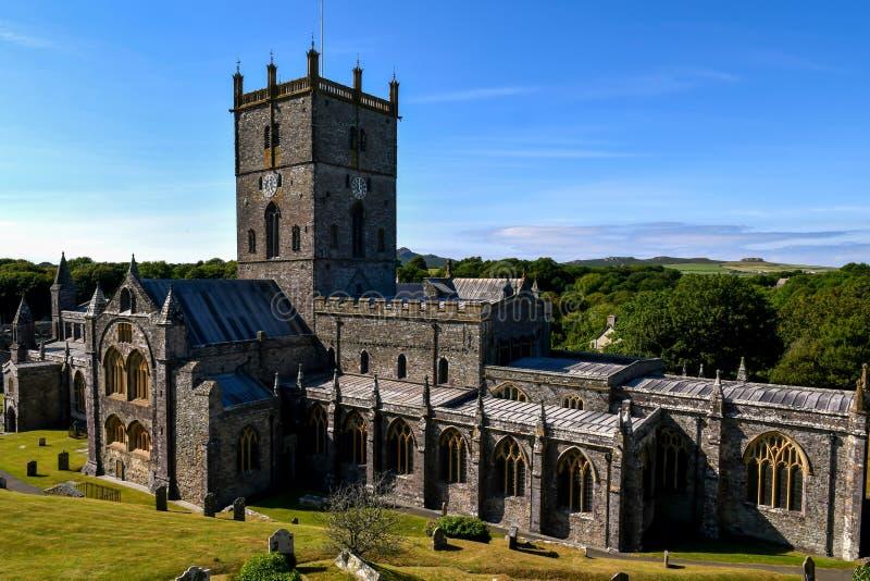 Cattedrale del ` s di St David fotografie stock