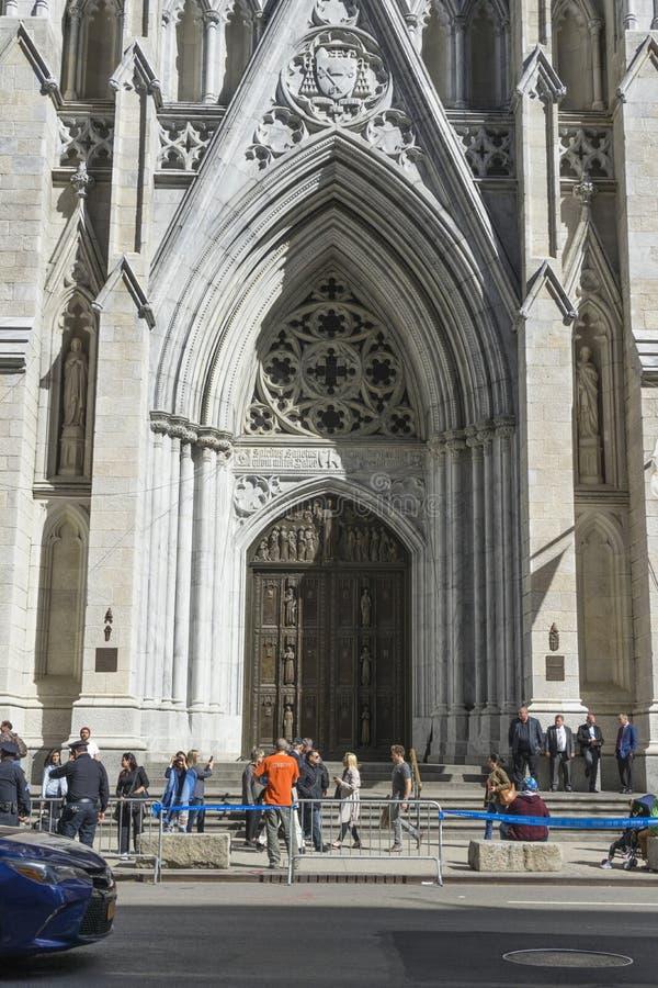 Cattedrale del ` s di St Patrick in Manhattan, NYC fotografie stock libere da diritti
