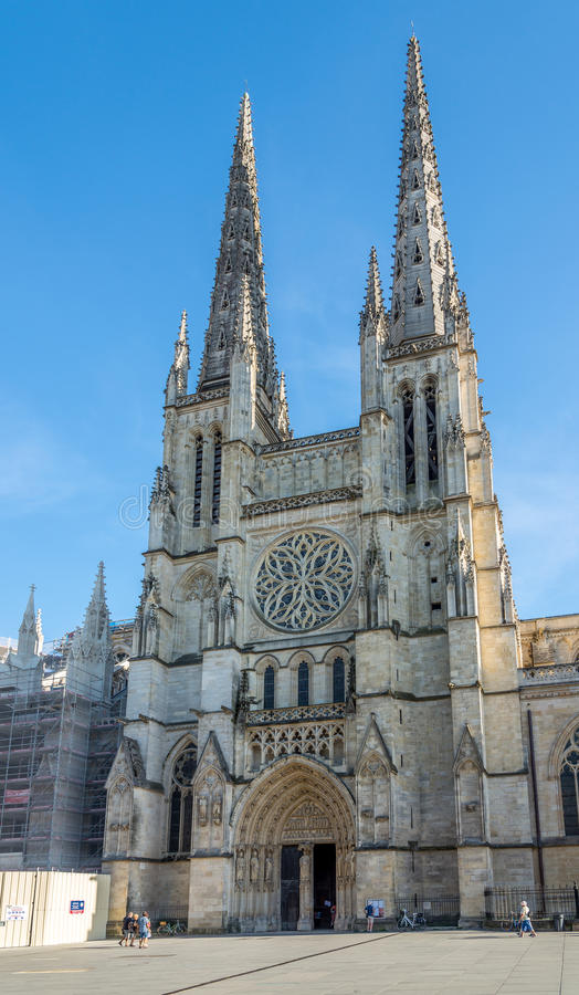 Cattedrale del san Andre in Bordeaux - Francia immagini stock